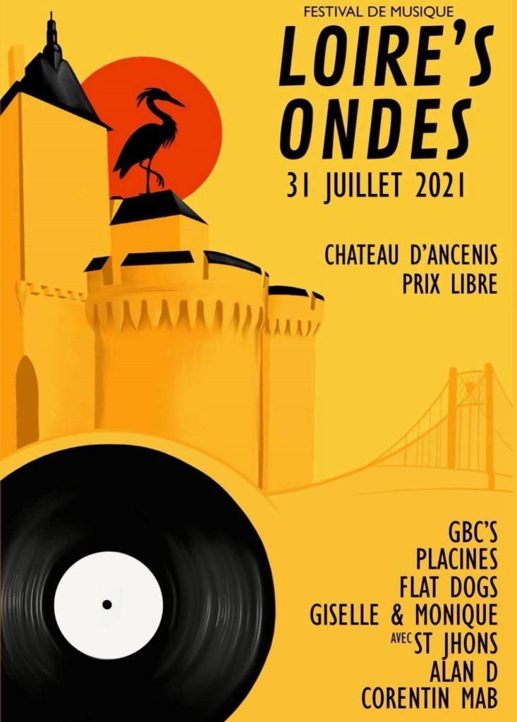 Affiche Festival Loire's Ondes 2021 - Château d'Ancenis